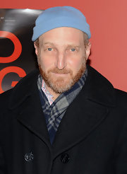 Johnathan Ames' blue eyes popped when paired with a baby blue knit beanie at the 'Red Flag' screening.