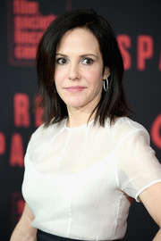 Mary-Louise Parker sported a shoulder-length layered cut at the New York premiere of 'Red Sparrow.'