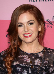 Isla Fisher was boho-cute with her loose side braid at the 29Rooms Los Angeles 2018.