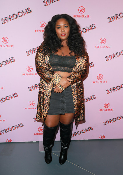 More Pics of Lizzo Printed Belt (2 of 2) - Printed Belt Lookbook - StyleBistro [29rooms collaborator lizzo,lizzo,rich fury,turn it into art - arrivals,caption,los angeles,refinery29 29rooms,row dtla,getty images,turn it into art opening night party]