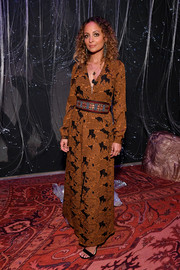 Nicole Richie donned a printed maxi dress for the 29Rooms New York 2018 opening party.