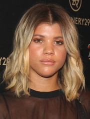 Sofia Richie styled her shoulder-length locks with piecey waves for the 29Rooms event.