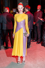 Kate Bosworth was a sight to behold in a color-block, sequin panel dress by Emilio Pucci at the Met Gala after-party.