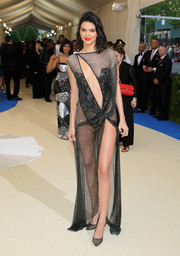 Kendall Jenner was next to naked in a sheer black cutout dress by La Perla at the 2017 Met Gala.