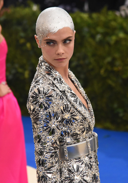 More Pics of Cara Delevingne Evening Pumps (1 of 19) - Cara Delevingne Lookbook - StyleBistro [rei kawakubo/comme des garcons: art of the in-between,rei kawakubo/comme des garcons: art of the in-between,fashion,clothing,beauty,lady,haute couture,model,tradition,dress,headgear,carpet,costume institute gala - arrivals,cara delevingne,new york city,metropolitan museum of art,costume institute gala]