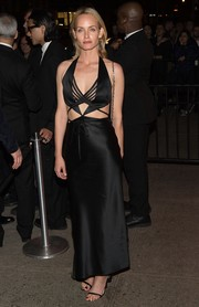 Amber Valletta looked ravishing in a black cutout dress by Alexander Wang while attending the Met Gala after-party.