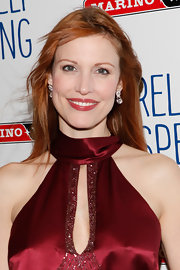 Rachel York's lovely lips were a awash with a beautiful berry-colored stain topped with a generous sweep of gloss at 'Relatively Speaking' on Broadway.