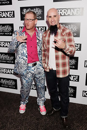 Corey Taylor stood out at the 2011 Kerrang! Awards in a print suit, hot-pink button-down, and neon sneakers.