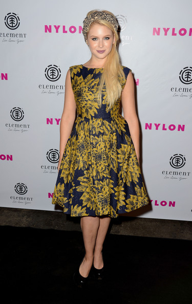 Renee Olstead Print Dress