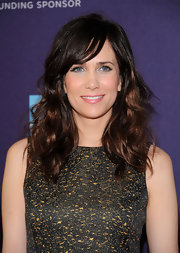 Kristen Wiig wore her hair in shiny layered waves while attending the 2012 Tribeca Film Festival.