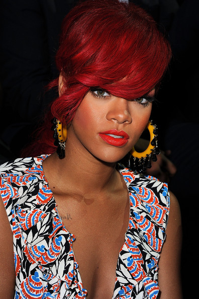 rihanna red hairstyles 2011. images rihanna 2011 grammy