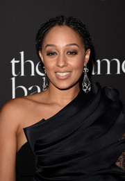 Tia Mowry rocked a dreadlock ponytail on the Diamond Ball red carpet.