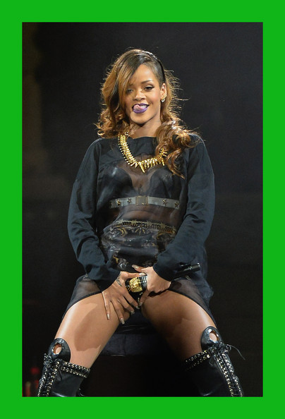 More Pics of Rihanna Over the Knee Boots (1 of 95) - Rihanna Lookbook - StyleBistro