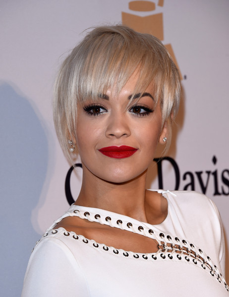 Rita Ora Layered Razor Cut