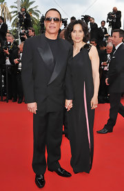 Jean donned a classic tuxedo while attending the premiere of 'Robin Hood' at the Cannes Film Festival.