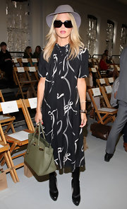 Rachel Zoe showed off one of her favorite Birkin bags in a trendy military shade.