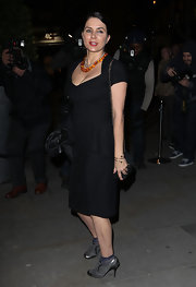 Sadie Frost's LBD was super cute with waist-peplum detailing.