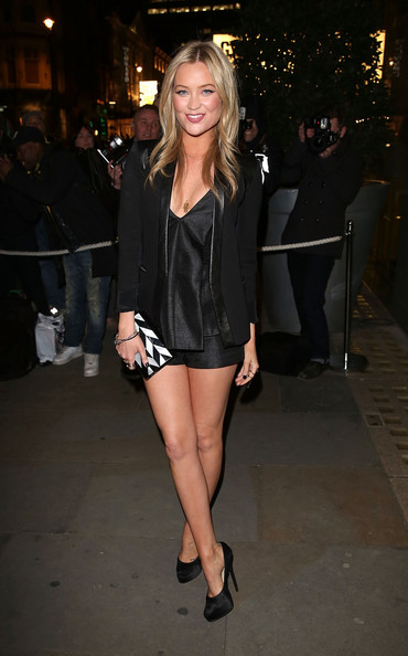 More Pics of Laura Whitmore Platform Pumps (1 of 4) - Heels Lookbook - StyleBistro [clothing,leg,fashion,fashion model,thigh,outerwear,human leg,little black dress,dress,shoe,arrivals,laura whitmore,rodial beautiful awards,london,england,st martins lane hotel]