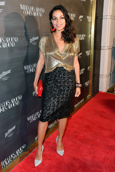 Rosario Dawson Pencil Skirt