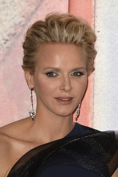 Charlene Wittstock was edgy-glam with her textured fauxhawk at the 2014 Rose Ball.