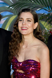 Charlotte Casiraghi wore her hair in tight waves at the 2019 Rose Ball.