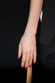 Charlotte Casiraghi paired her ring with an equally stunning diamond tennis bracelet.