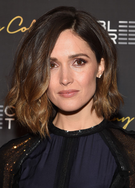 Rose Byrne Asymmetrical Cut [hair,face,hairstyle,eyebrow,chin,layered hair,long hair,brown hair,black hair,premiere,rose byrne,danny collins,danny collins premieres,nyc,amc lincoln square theater,premiere]