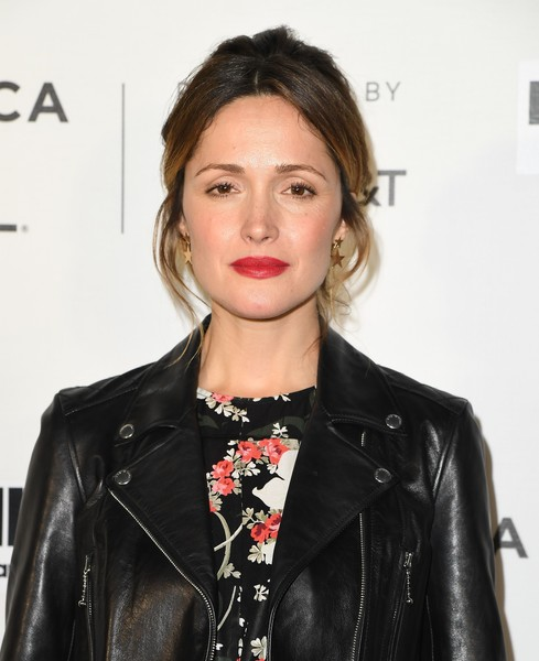 Rose Byrne Messy Updo [premiere of hair,photo,hair,lip,leather,hairstyle,eyebrow,beauty,leather jacket,fashion,fashion model,jacket,rose byrne,angela weiss,sva theater,new york city,afp,tribeca film festival]