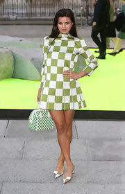 Bip Ling chose a green-and-white checked frock for her summery look at the Royal Arts of Summer Exhibit.