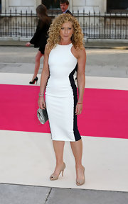 Kelly Hoppen got racy in racer-stripes at the Royal Academy Summer Exhibition in one of the season's favorite styles.