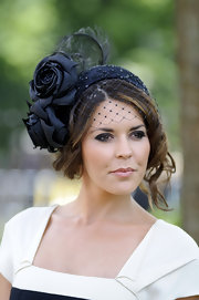 British beauty, Danielle Bux, wore a stylish decorative hat to the Royal Ascot.