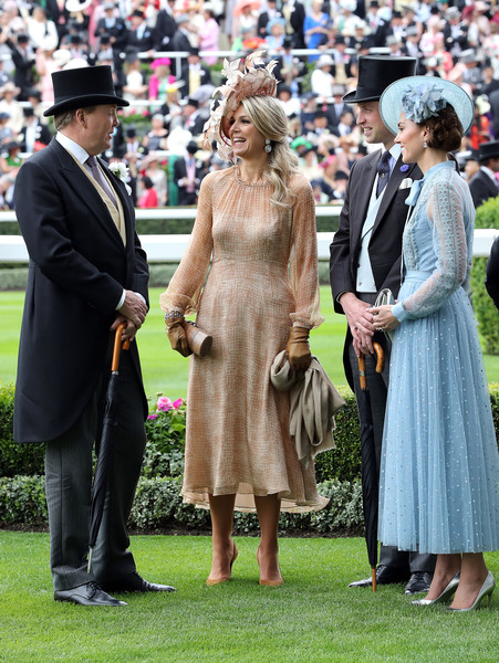 More Pics of Kate Middleton Braided Bun (1 of 42) - Kate Middleton Lookbook - StyleBistro [day one,lady,dress,fashion,event,headgear,ceremony,hat,crowd,long hair,suit,maxima,willem-alexander of the netherlands,prince william,queen,duchess,ascot 2019,ascot,cambridge,the netherland]