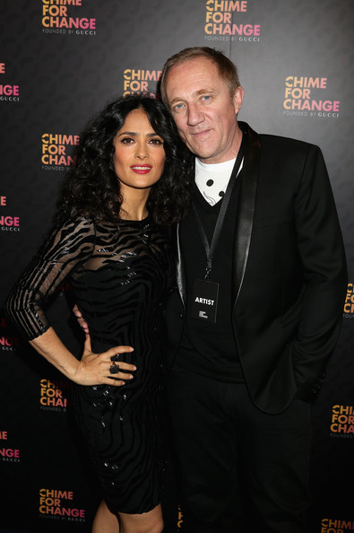 More Pics of Salma Hayek Beaded Dress (4 of 5) - Salma Hayek Lookbook - StyleBistro
