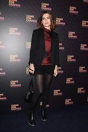 Charlotte Casiraghi wore this black short suit to the 'Chime for Change: The Sound of Change Live' Concert.