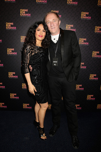 More Pics of Salma Hayek Beaded Dress (5 of 5) - Salma Hayek Lookbook - StyleBistro