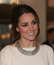 Kate Middleton's stunning diamond collar necklace provided an ultra-glam finish to her look.