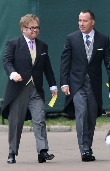 Elton John attended the royal wedding wearing classic oxfords.