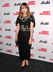 Zoe Kazan was elegant yet risque in this black lace dress at the 'Ruby Sparks' premiere.