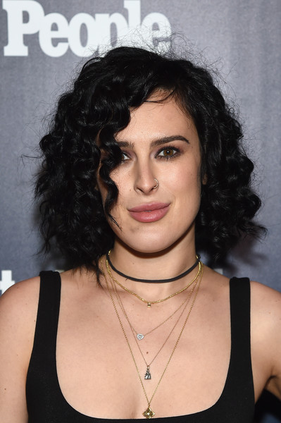 Rumer Willis Curled Out Bob [hair,face,hairstyle,eyebrow,chin,black hair,beauty,lip,shoulder,forehead,rumer willis,terra,second floor,new york city,people upfronts party at second floor in nyc,entertainment weekly,netflix,party,terra chips,rise]