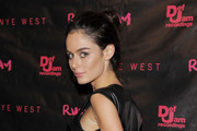 Nicole Trunfio Wears a Leather Zip Mini Dress