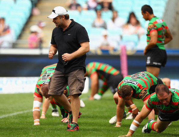 Russell Crowe Cargo Shorts [sports,ball game,rugby union,team sport,rugby sevens,rugby player,player,rugby league,rugby,touch football,russell crowe,players,rd 1 - rabbitohs v roosters,sydney,australia,nrl,rabbitohs,sydney roosters,match,round]