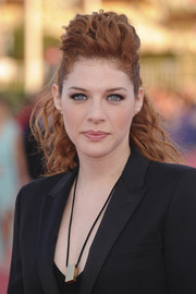 Rachelle Lefevre sported a punk-glam half-up pompadour during the Deauville American Film Festival premiere of 'Ruth and Alex.'