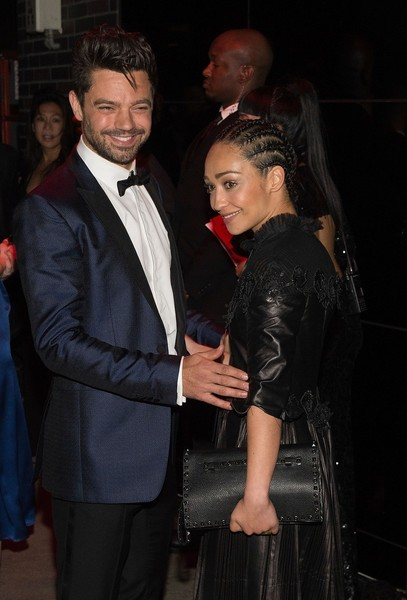 Ruth Negga Studded Clutch [rei kawakubo/comme des garcons: art of the in-between,event,fashion,suit,leather,outerwear,textile,premiere,formal wear,leather jacket,fashion design,rei kawakubo,ruth negga,marc jacobs,dominic cooper,boom boom room,new york city,afterparty,parties,costume institute gala]
