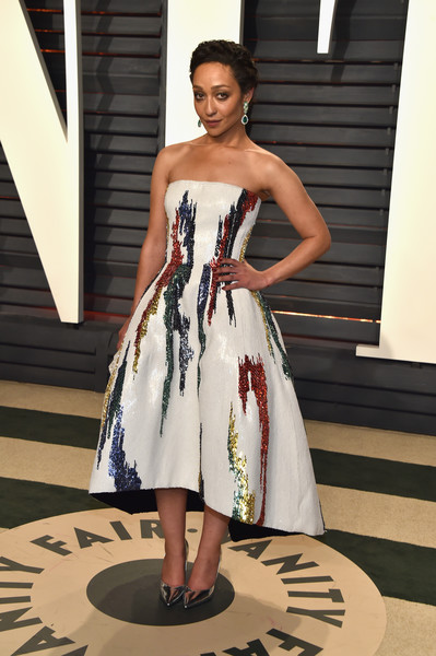 Ruth Negga Strapless Dress