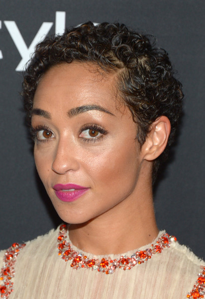 Ruth Negga Short Curls [hair,face,hairstyle,eyebrow,chin,lip,forehead,nose,beauty,cheek,ruth negga,arrivals,windsor arms hotel,toronto,canada,instyle,party,hfpa,hfpa party,tiff]