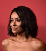 Kat Graham sported a slightly messy bob at the SAG-AFTRA Foundation Patron of the Artists Awards.