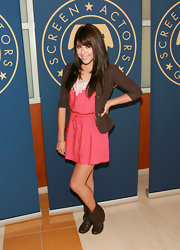 Daniella Monet finished her look with loose-cuffed ankle boots at the SAG Young Performers Indoor Carnival Launch.