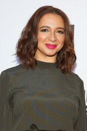 Maya Rudolph sported textured, shoulder-length waves at the Saks Fifth Avenue exclusive collection launch.
