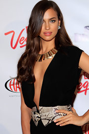 Irina Shayk attended a 'Sports Illustrated' event wearing a pale peachy-pink nail polish.