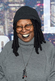 Whoopi Goldberg sported dreadlocks under a beanie during the SNL 40th anniversary celebration.